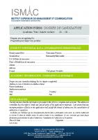 Dossier Candidature ISMAC